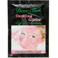 Маска для лица Dear She Dazzling Glitter Peel Off Facial Mask - розовая