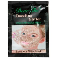 Маска для лица Dear She Dazzling Glitter Peel Off Facial Mask - золотая