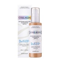 Тональный крем Collagen Whitening Moisture Foundation 3in1 SPF15 100ml (белый)
